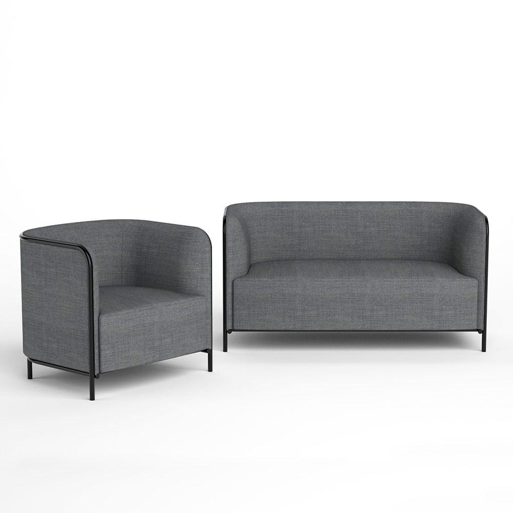 Malerisch Zweiersofa Foto Von Place - Sessel Und Sofa Mit Metallstruktur