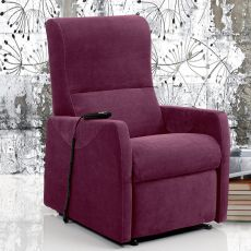 Orchidea - Electric and adjustable relax armchair, different upholsteries and colours available, totally removable covering, also with Roller system and massage kit