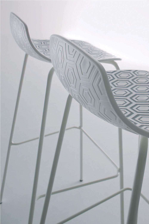 Alhambra s sgabello di design in metallo e tecnopolimero for Design dello spazio esterno