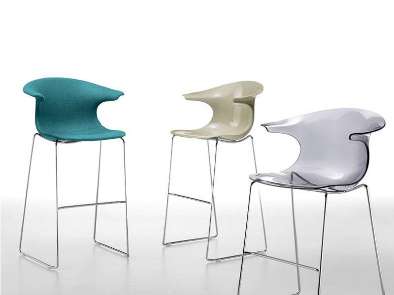 Loop stool sgabello impilabile infiniti in metallo seduta in
