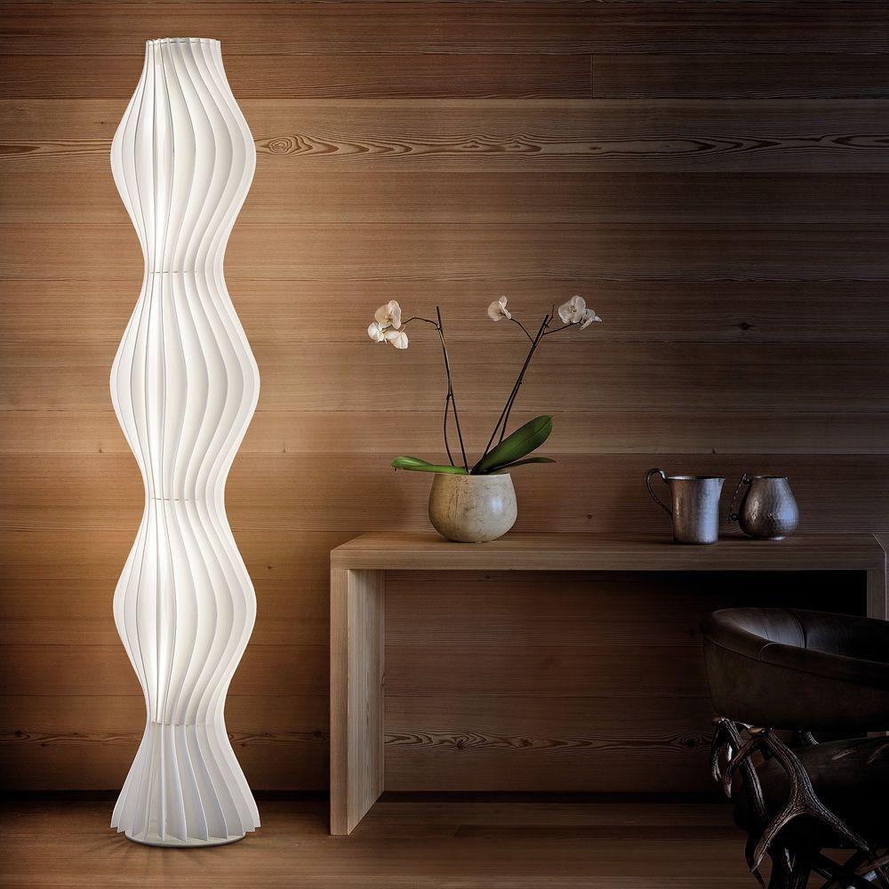 Vapor Lampe Design A Poser Au Sol En Metal Et En Polycarbonate