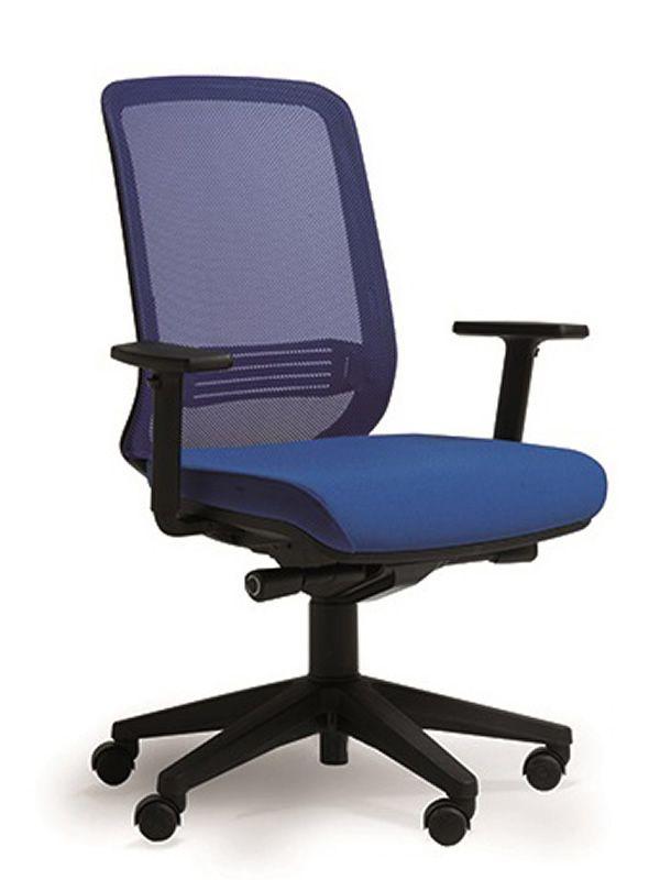 Bali sedia operativa per ufficio con schienale in rete for Sgabelli da ufficio regolabili