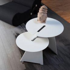 Abra - Tavolino di design B-Line, in metallo, disponibile in diverse dimensioni e colori