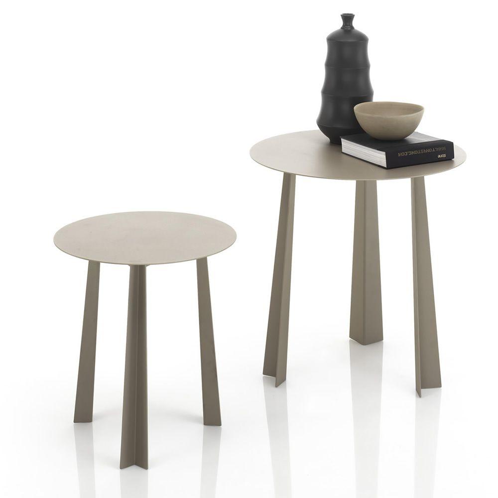 Tao designer beistelltisch bontempi casa aus metall in for Designer beistelltische metall