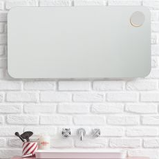 Acqua - Rectangular mirror, available also with light