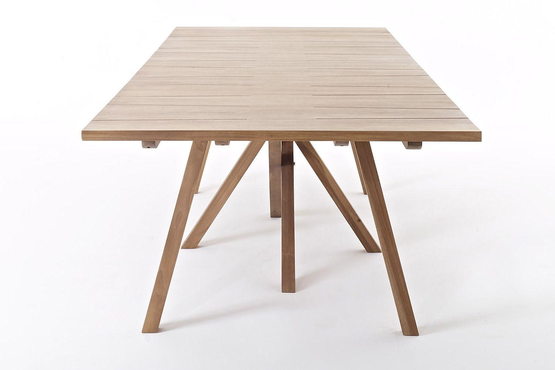 Exit table table de jardin colico en teck recycl fixe for Table exit fly