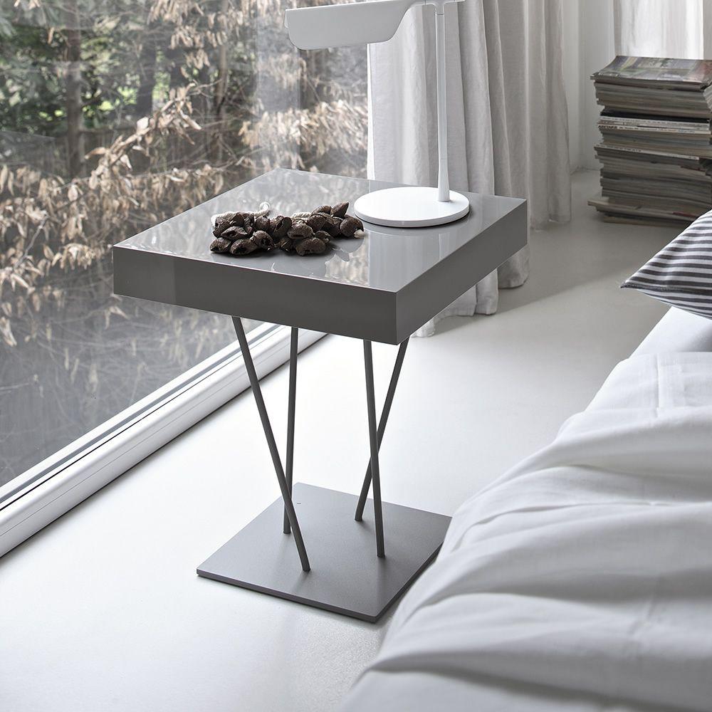 ginger bontempi casa design side table in metal with. Black Bedroom Furniture Sets. Home Design Ideas