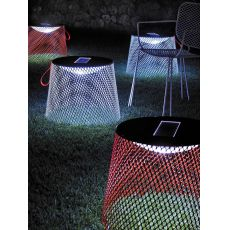 Ivy L - Emu table or Emu pouf, luminescent, for garden
