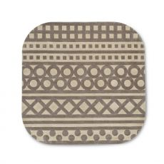 7132 Sampler - Calligaris square rug made of acrylic, different sizes available