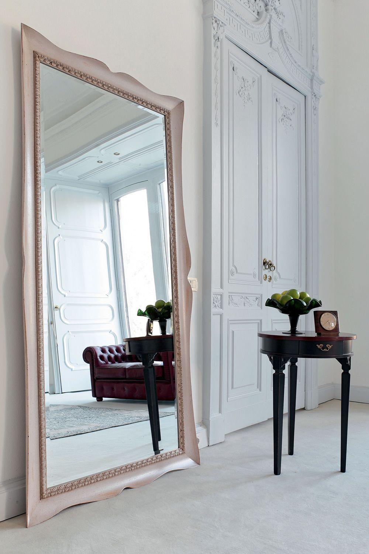 Marte 4955 specchio tonin casa con cornice classica in legno diverse finiture e misure - Specchio con cornice ...