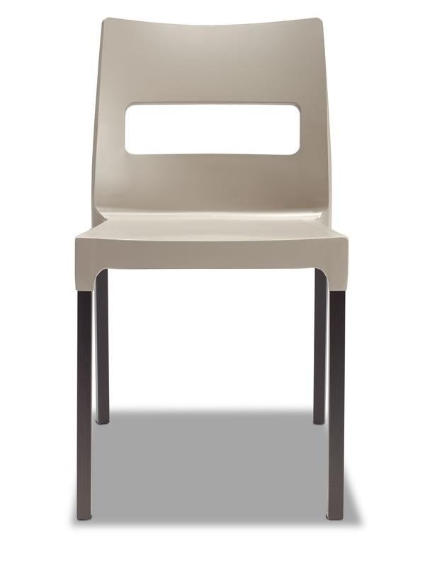 natural diva mx 2816 moderner stuhl aus holz und technopolymer stapelbar verschiedene farben. Black Bedroom Furniture Sets. Home Design Ideas