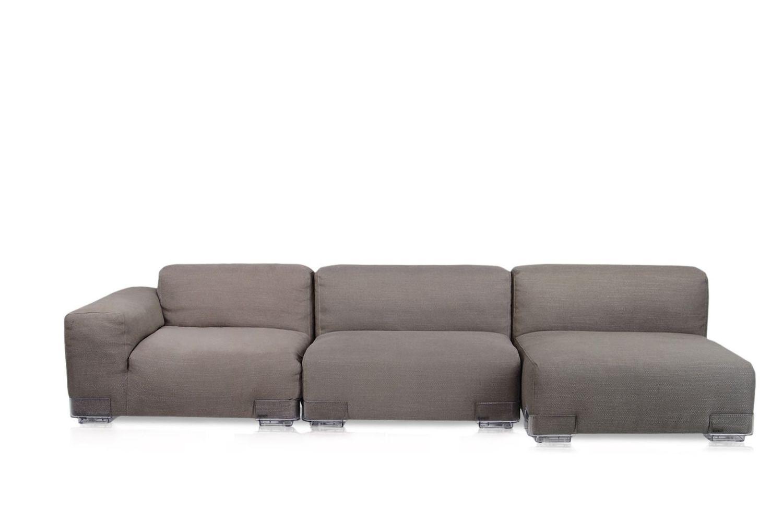 Plastics duo l sof de design kartell 2 plazas con chaise longue con pies de policarbonato y - Sofa de colores ...