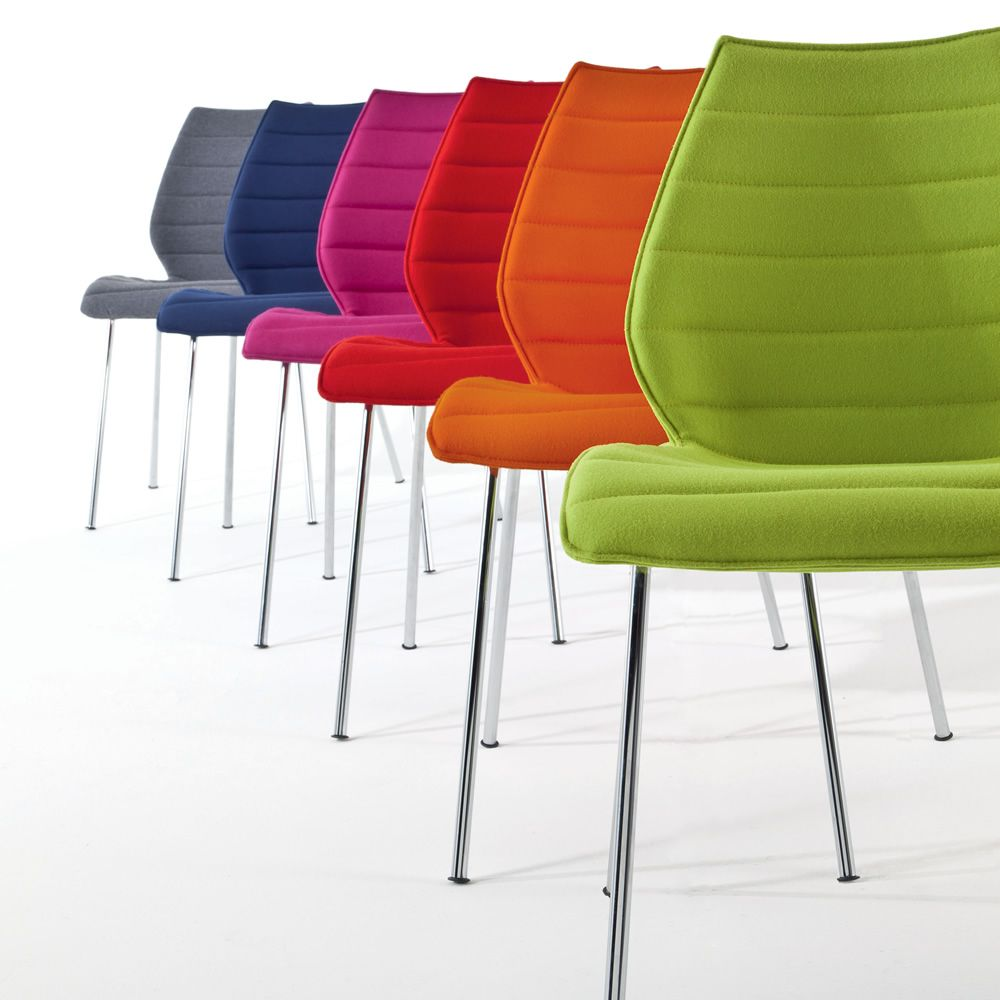 Maui soft sedia kartell di design in metallo con seduta - Sedia sdraio imbottita ikea ...