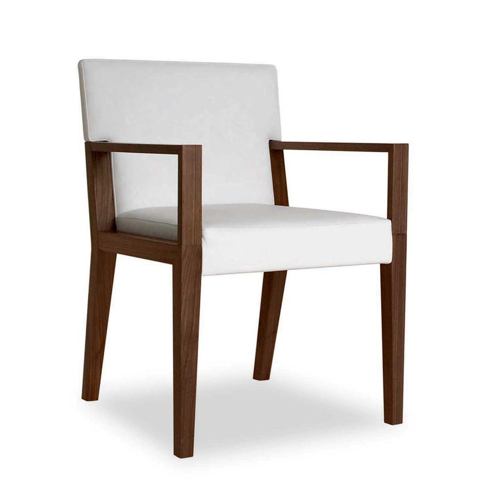 euthalia p chaise avec accoudoirs de tonon rembourr e en bois diff rentes rev tements. Black Bedroom Furniture Sets. Home Design Ideas