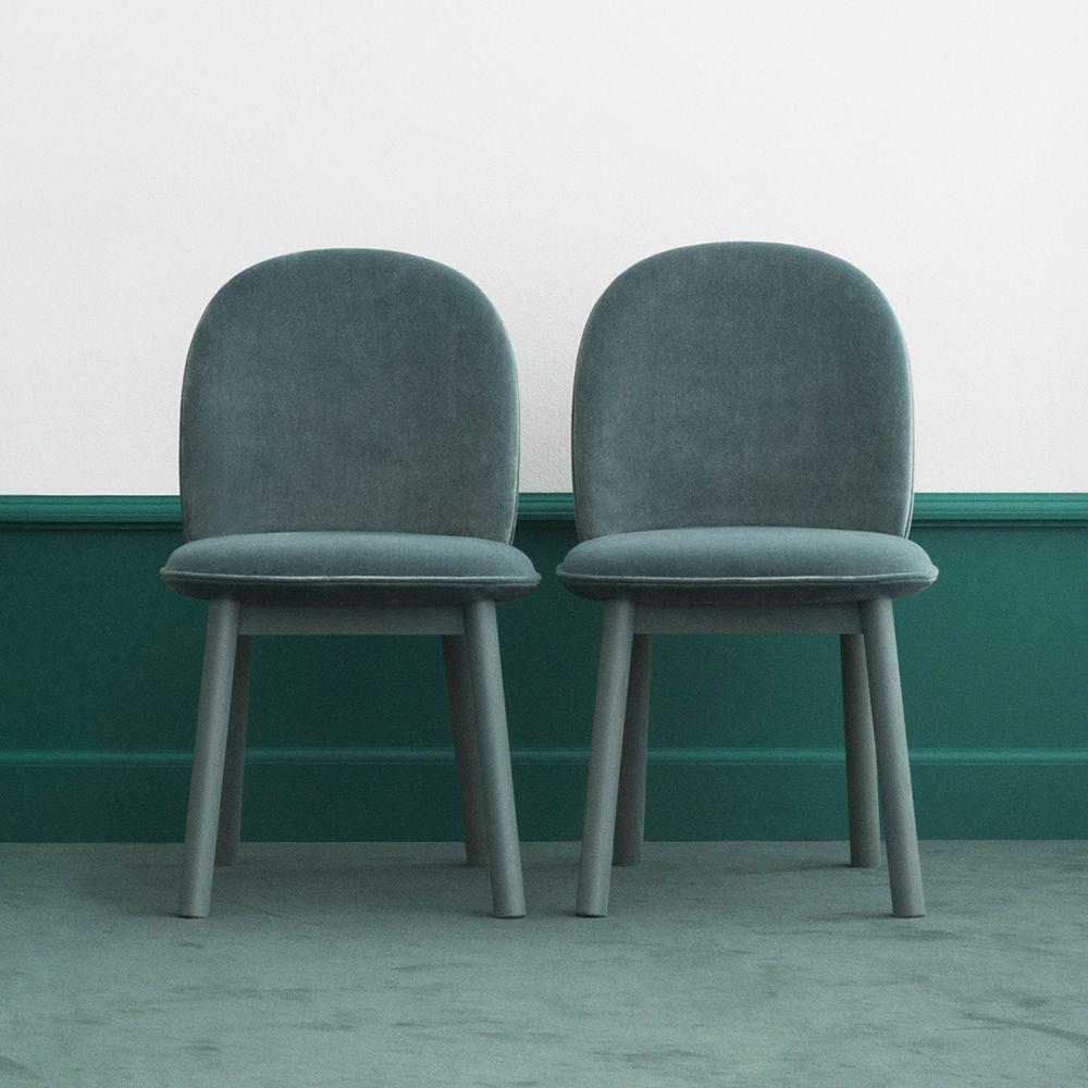 awesome ace sedie in legno di faggio tinto seduta imbottita e rivestita in tessuto velour with ...