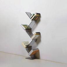 Urania - Libreria da terra, fissata a parete, in metacrilato e metallo, disponibile in diversi colori