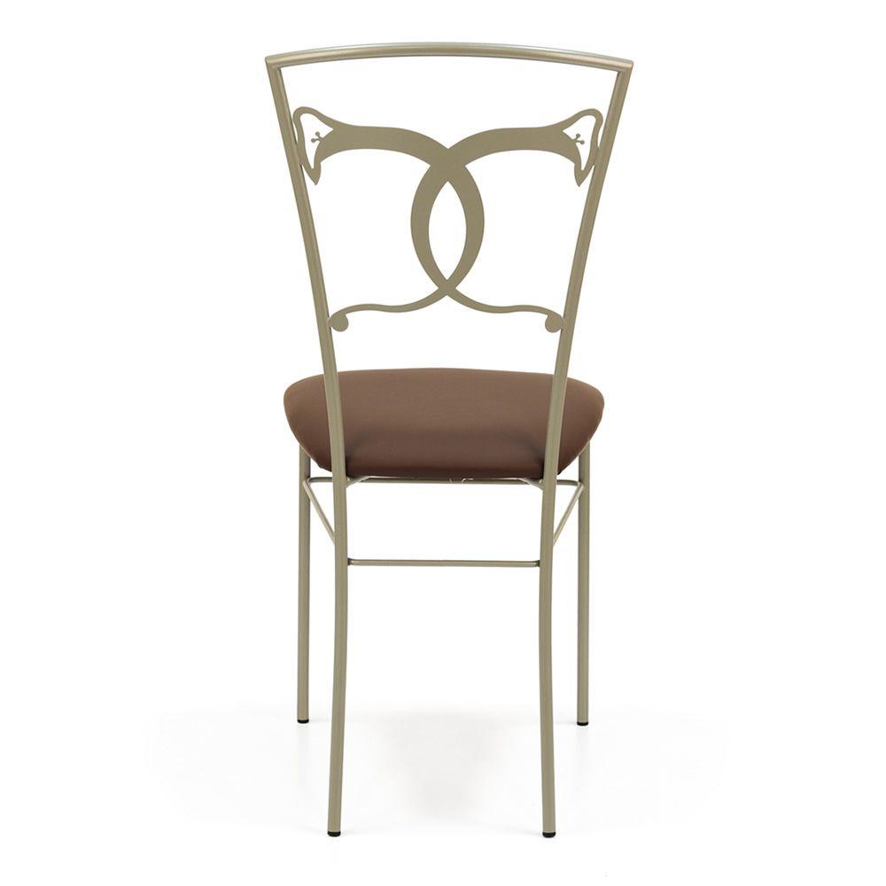 altea sedia chaise en fer avec assise em simili cuir ou. Black Bedroom Furniture Sets. Home Design Ideas