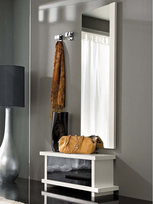 Pa252b mobile ingresso moderno con specchio e appendini sediarreda - Mobile moderno per ingresso ...