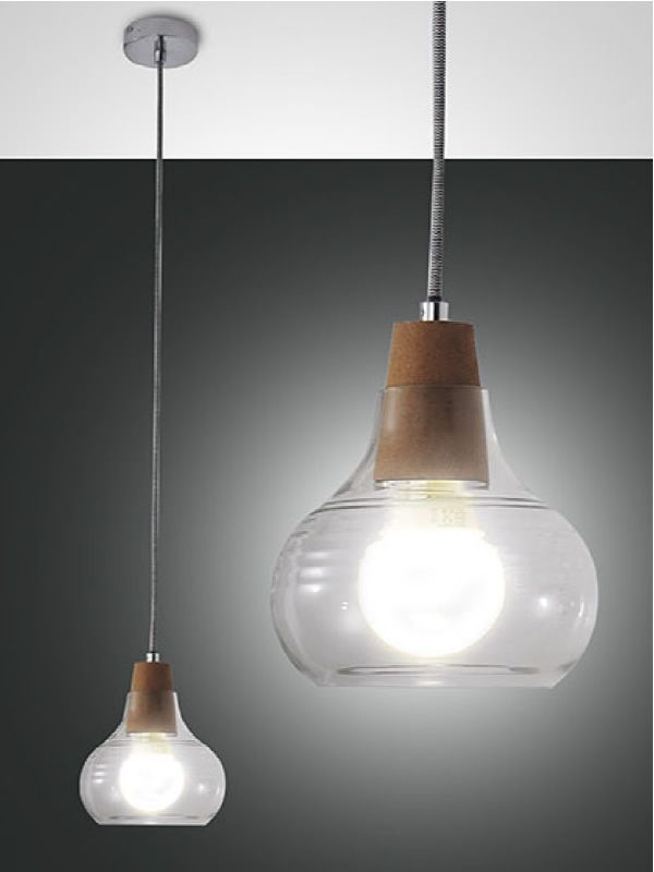 Lampada Sospensione Vetro Metallo Alien : Fa lampada a sospensione in metallo e vetro sediarreda