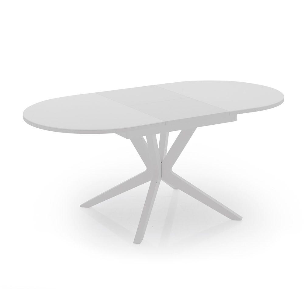 706 table rallonge en bois avec plateau en verre 130 x for Table ovale en verre avec rallonge