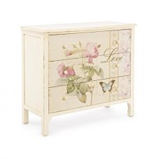 Blanda 3C - Chest of drawers in wood, with 3 drawers, 90x40 cm, height 82 cm
