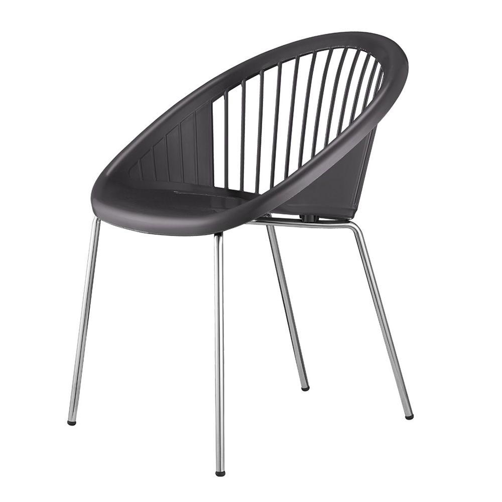 Giulia 2684 fauteuil en m tal et en technopolym re - Chaise gris anthracite ...
