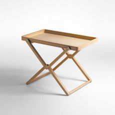 Treee Tray - Low folding table with tray, 70x46.5 cm