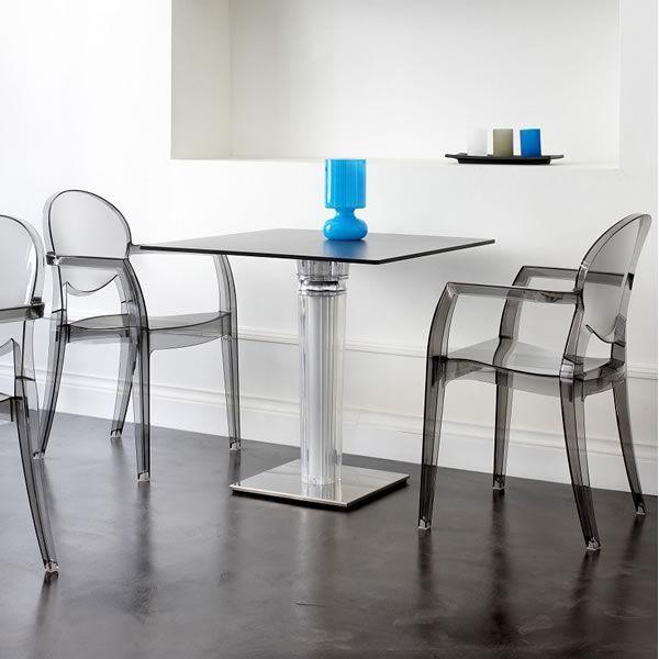 Igloo 2355 sedia trasparente con braccioli in for Sedie impilabili