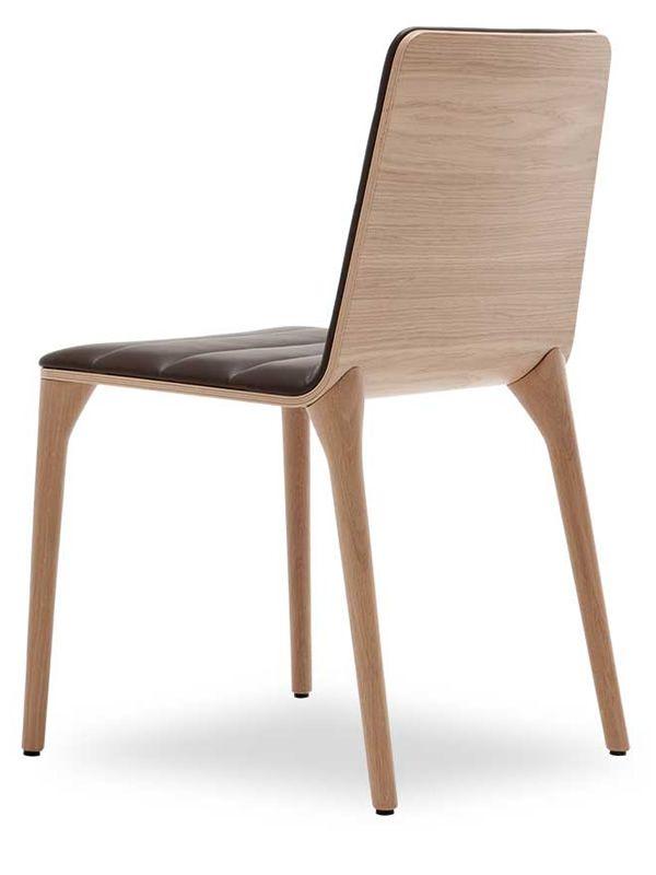 pit w sedia design di tonon in legno imbottita diversi colori sediarreda. Black Bedroom Furniture Sets. Home Design Ideas