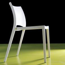 Aqua - Stapelbarer Stuhl Bontempi Casa, aus Polypropylen in verschiedenen Farben verfügbar, auch für den Außenbereich