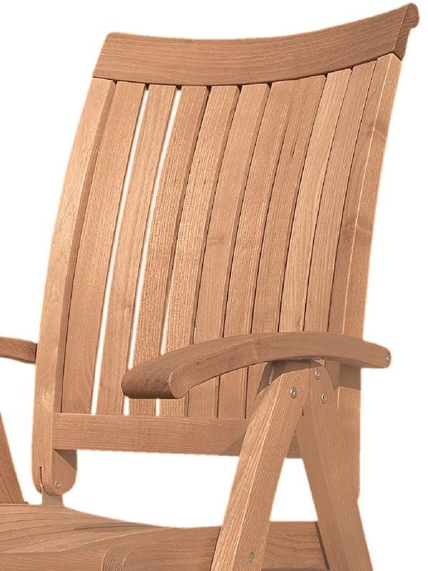 harmony bf fauteuil pour jardin en bois robinier avec dossier r glable sediarreda. Black Bedroom Furniture Sets. Home Design Ideas
