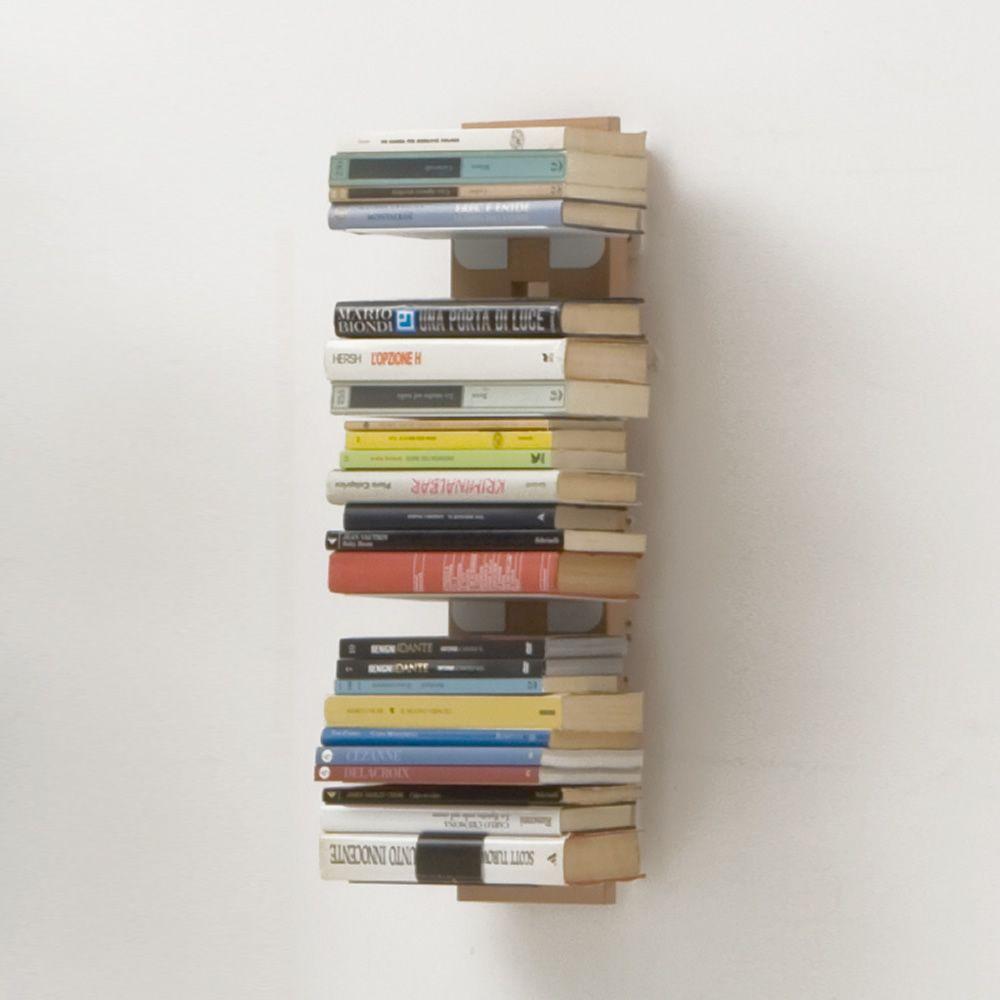 Zia Ortensia S - Libreria di design, fissata a parete, in legno ...