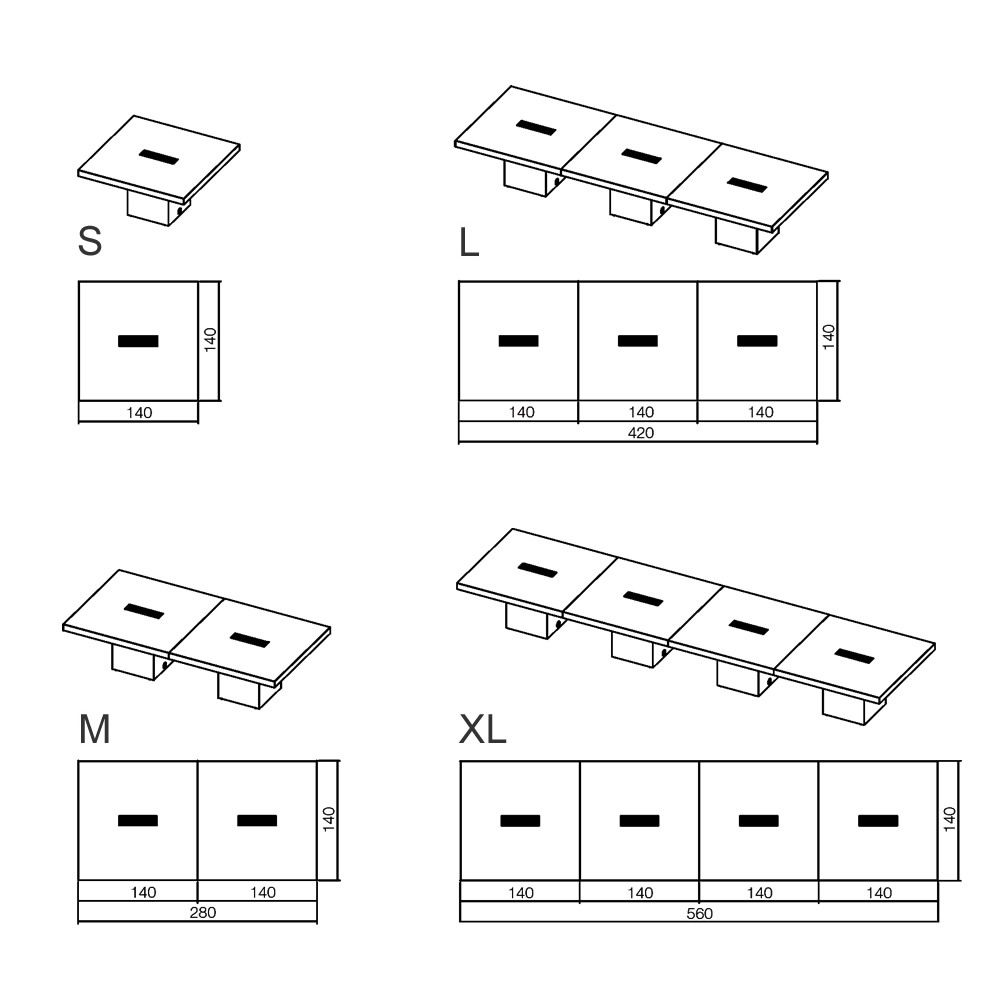 Dimensioni Standard Tavolo Cucina t-desk meet