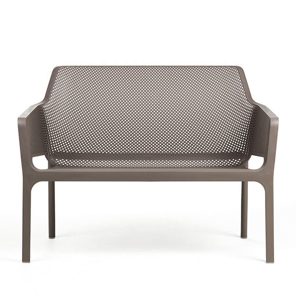 net bench sitzbank aus polypropylen stapelbar mit. Black Bedroom Furniture Sets. Home Design Ideas