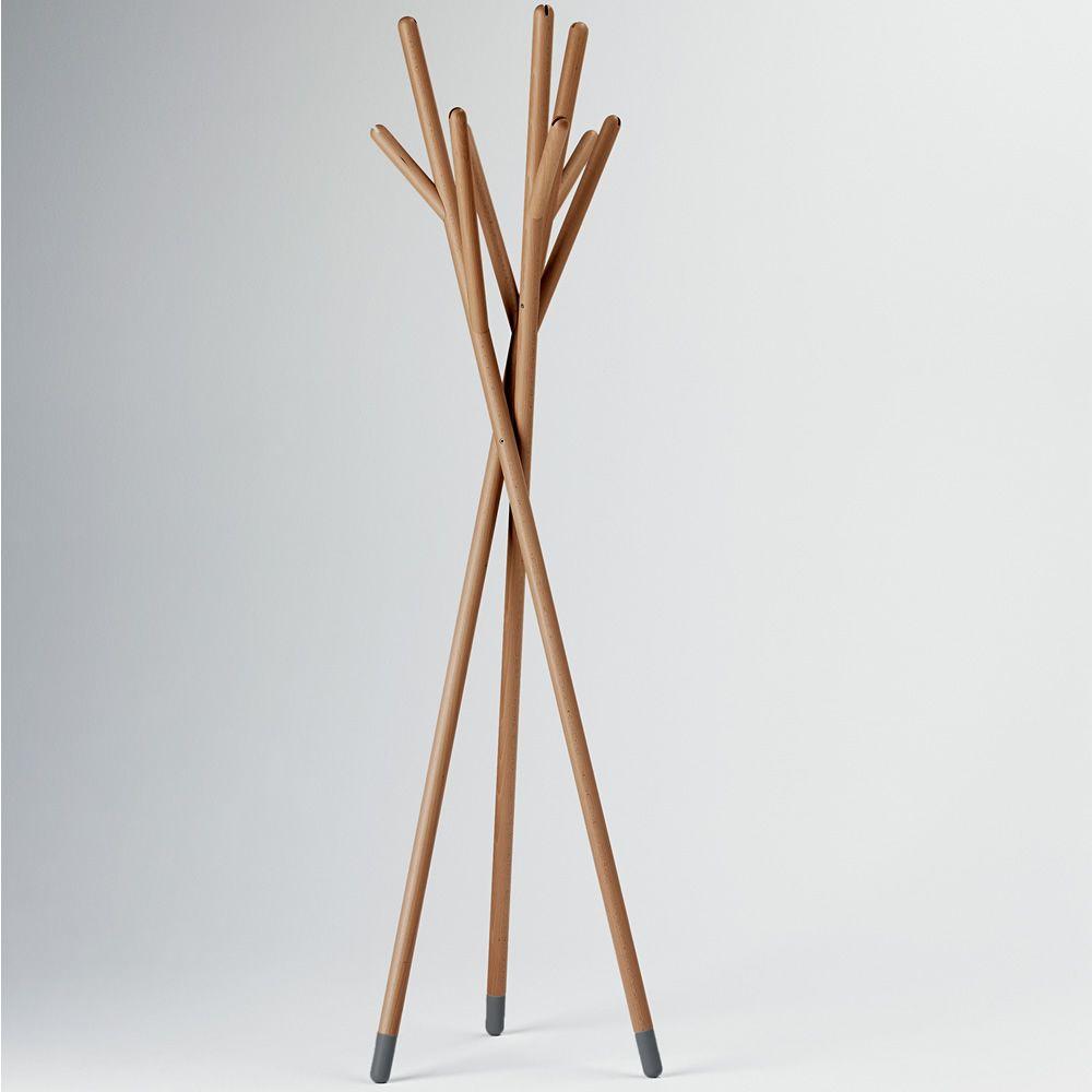 Stick perchero de dise o valsecchi en madera en for Percheros de diseno