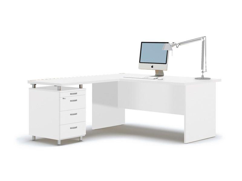 Idea panel 01 escritorio para oficina con pen nsula y for Mesas y escritorios para oficina