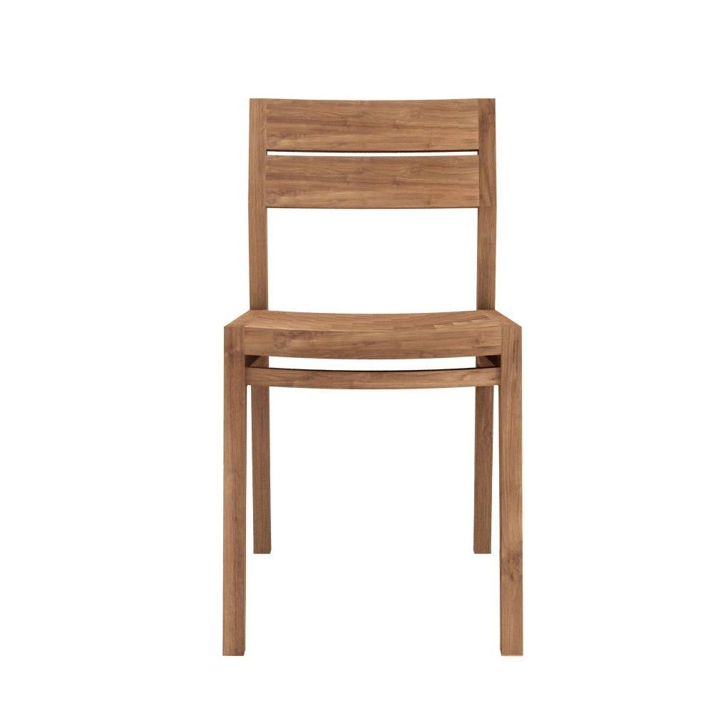Ex1 w chaise ethnicraft en bois de ch ne ou de teck for Chaise en bois massif