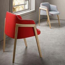 Chevalet - Poltroncina di design in legno, con seduta imbottita, disponibile in diversi colori