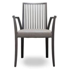 Forma Stick P - Sedia moderna Tonon, con braccioli, struttura in legno e seduta imbottita, finiture personalizzabili