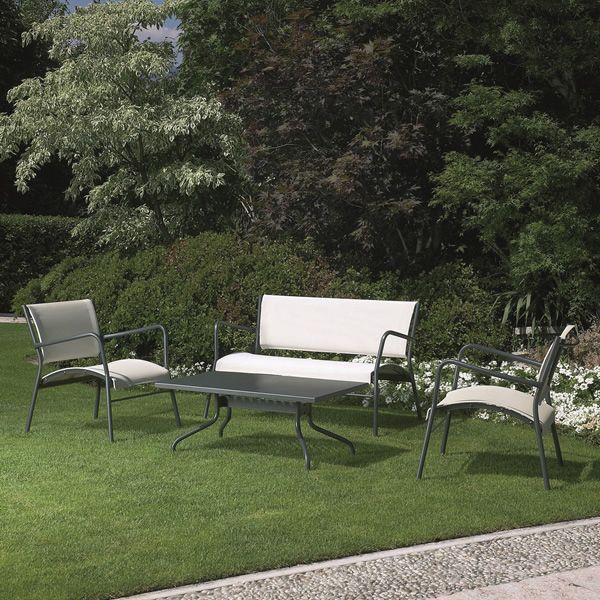 Rig42ta mesa baja de metal para jard n sediarreda for Mesa baja jardin