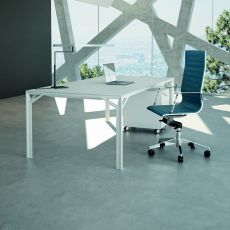 Office X8 03 - Executive desk in metal and laminate, available in different dimensions