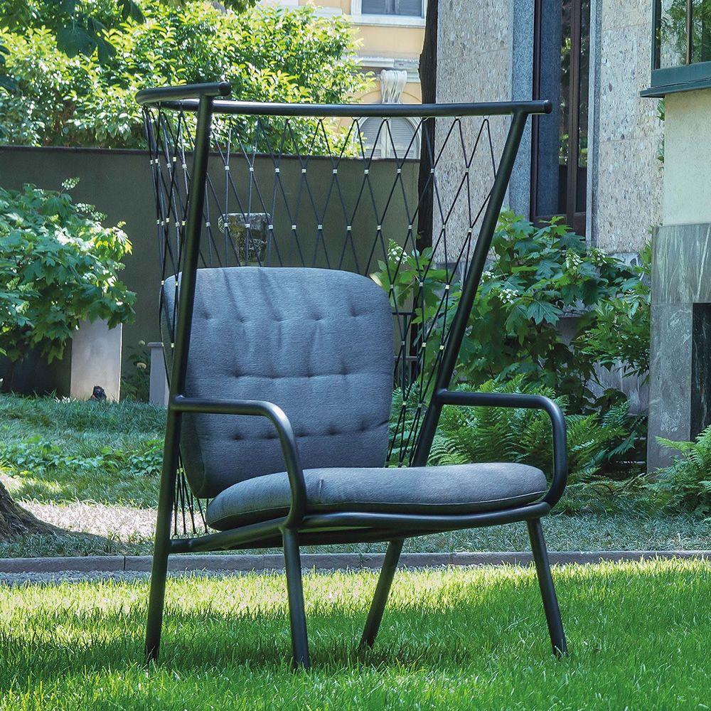 nef 627 fauteuil emu en m tal avec coussins pour jardin sediarreda. Black Bedroom Furniture Sets. Home Design Ideas