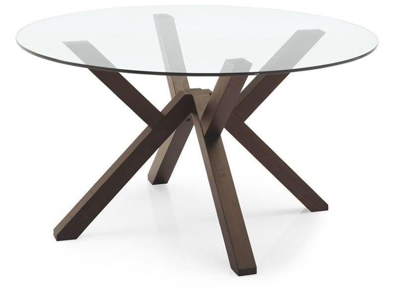 design holztisch glasplatte mit durchmesser 120 oder. Black Bedroom Furniture Sets. Home Design Ideas
