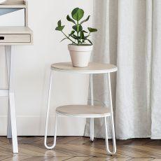 Anatole - Tavolino in metallo e legno