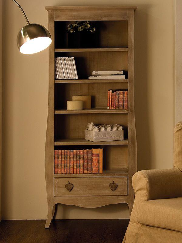 certosa biblioth que en bois avec tiroir sediarreda. Black Bedroom Furniture Sets. Home Design Ideas