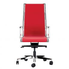 Dekora High - Executive chair with high backrest, Available with seat in plastic mesh or upholstered, covered with fabric, leather or imitation leather