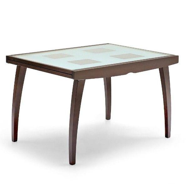 cs368 vq enterprise glass table extensible connubia calligaris en bois avec plateau en verre. Black Bedroom Furniture Sets. Home Design Ideas