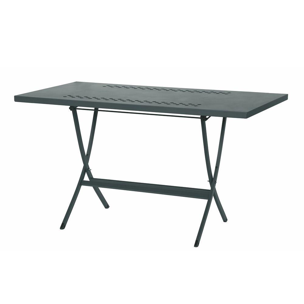 rig73r klappbarer tisch aus metall verschiedene vorr tige farben und gr en f r garten. Black Bedroom Furniture Sets. Home Design Ideas