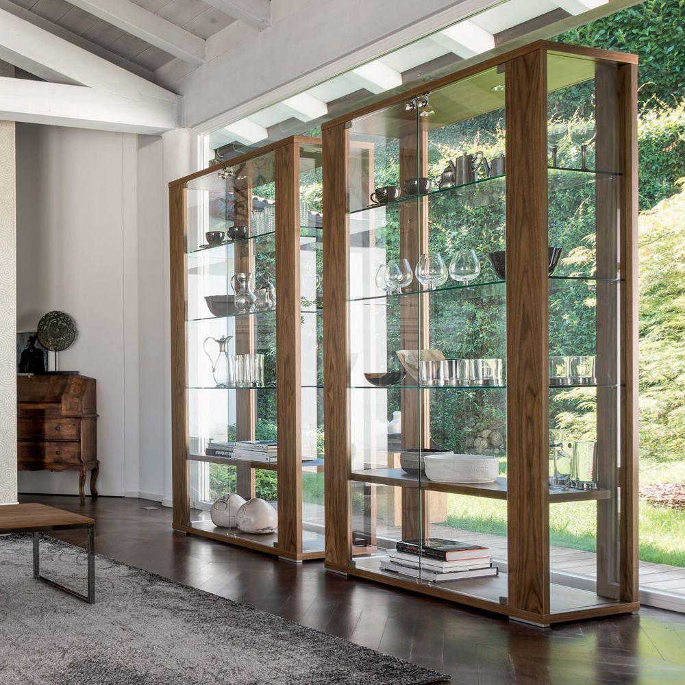 Aurora 6252 vitrine tonin casa en verre et bois en for Vitrine en verre et bois