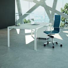 Office X8 03 - Scrivania direzionale in metallo e laminato, disponibile in diverse dimensioni e finiture